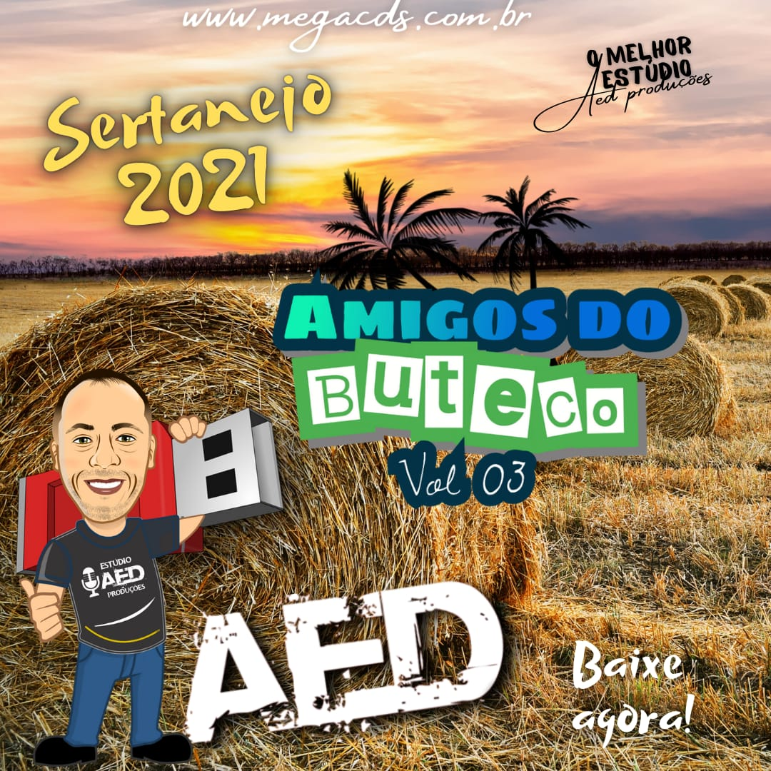 CD-AMIGOS DO BUTECO VOL-03  ESTUDIO AED PRODUCOES