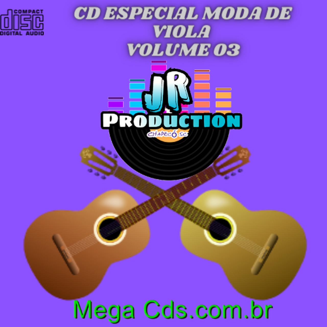 CD ESPECIAL MODA DE VIOLA VOLUME-03 BY JR PRODUCTION